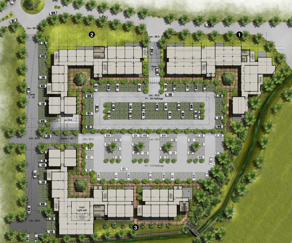 Master plan - The Strand - Beau Plan Smart City - Novaterra